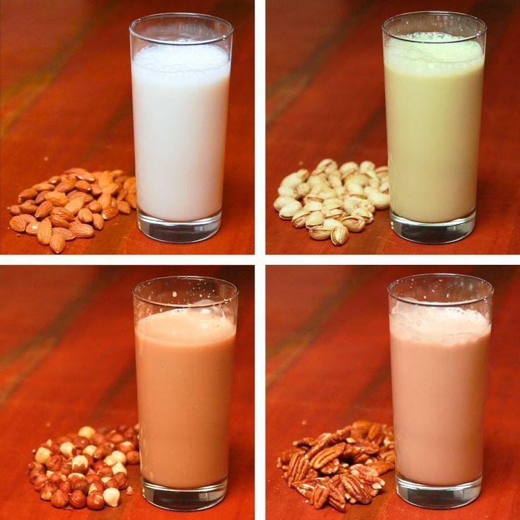 """4 Ways To Make Nut """"Milk"""""""