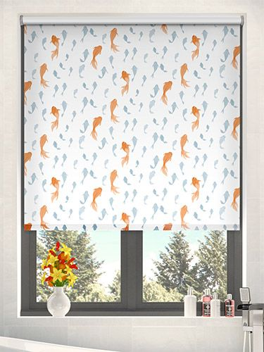 Good Splash Koi Pool Blue Roller Blind