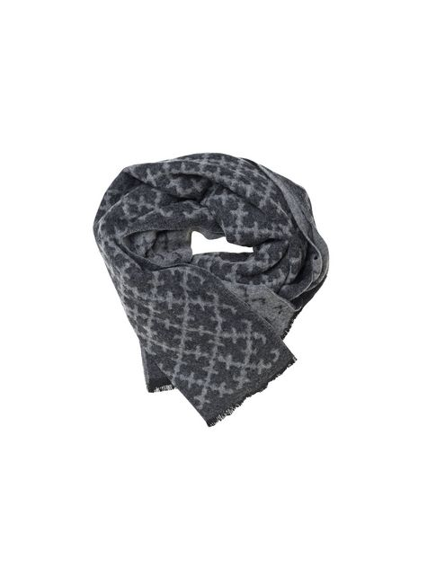 Ominda wool scarf grey in Arabian flower print - # Q56715001 - By Malene Birger Autumn Winter 2014 - Women's fashion