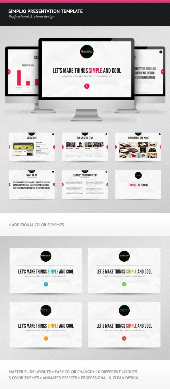 11 best presentation deck designs images on pinterest plants simplio presentation template by vladedimovski on deviantart powerpoint toneelgroepblik Choice Image