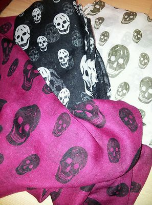 Large Scarf Sarong Skull Design Women'S | eBay