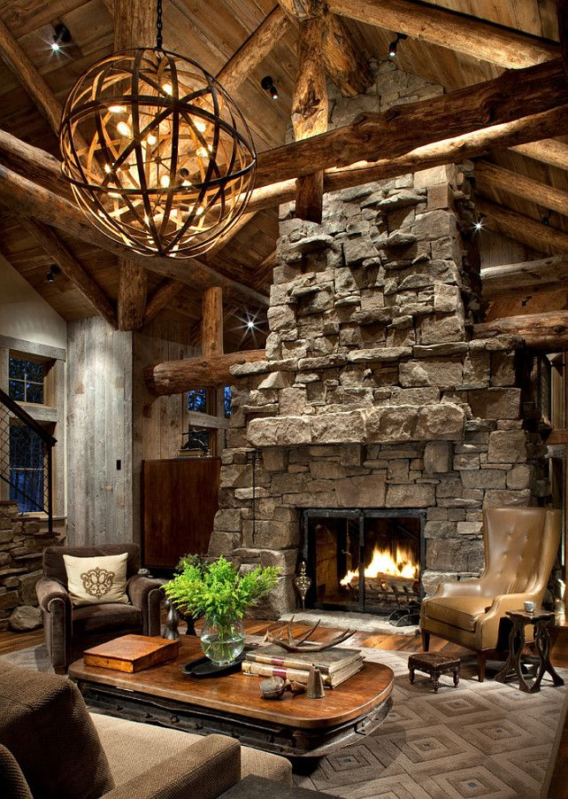 40 awesome rustic living room decorating ideas - Rustic Interior Design Ideas