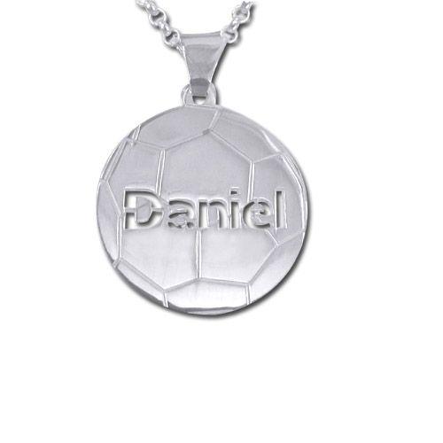 Personalisierte Kette mit Fußball-Anhänger in 925er Silber €29.90