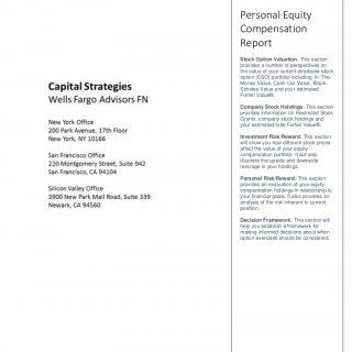 Personal Equity Compensation Report Stock Option Valuation: This section provides a number of perspectives on the value of your current employee stock optio. http://slidehot.com/resources/employee-stock-option-sample-report.37956/