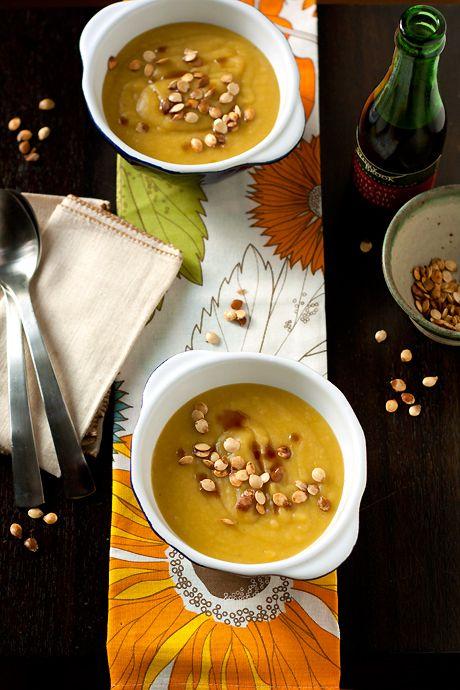 Leek, Potato & Delicata Squash Soup: Food Recipes, Leek Potatoes Delicata Soups, Squash Soups, Squash Recipes, Squashes, Potatoes Soups, Winter Squash, Delicate Squash, Local Kitchens