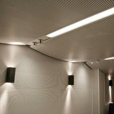 Rivestimenti acustici con pannelli fresati e forati a muro e a soffitto by 4design Info su http://mktg.mktgsolutions.it