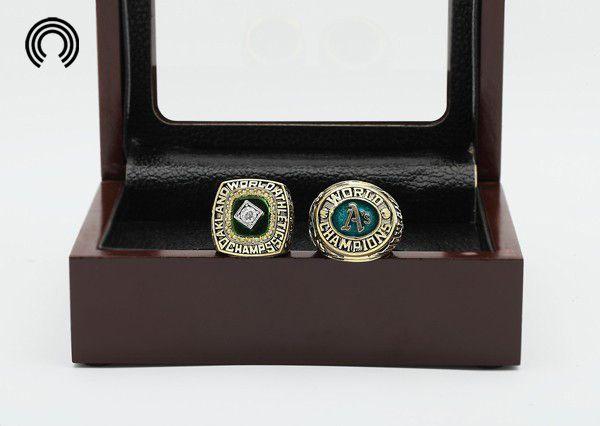 Завод продаж Кольца наборы с Деревянной Коробки Реплика Бейсбол Медь 2 шт./Packs Oakland Athletics Чемпионата кольцо бесплатная доставка