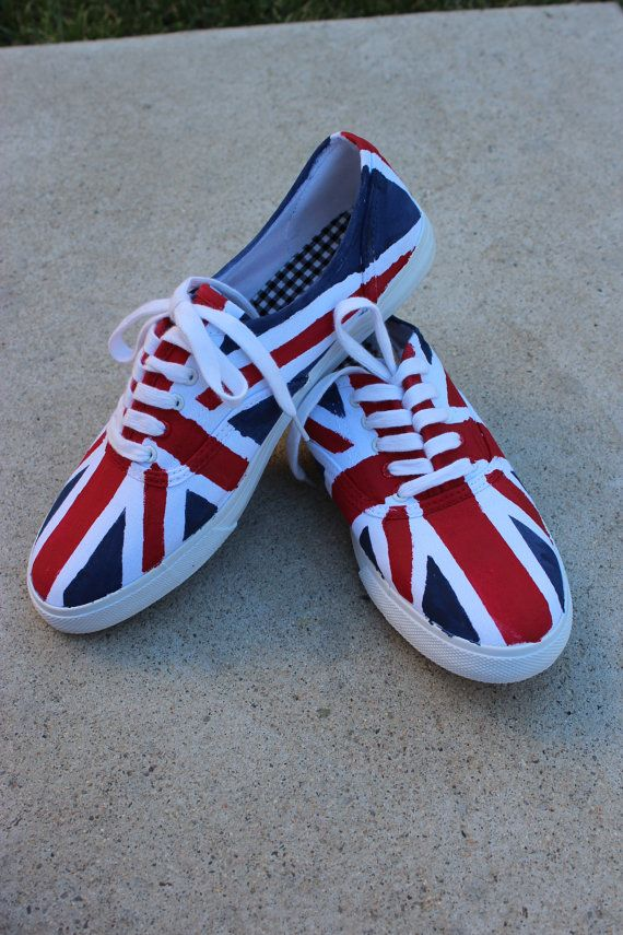 Union Jack Shoes by EclecticRags on Etsy, $45.00