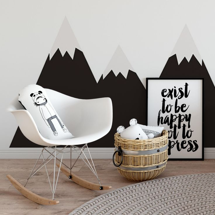Mountains Black Wall Sticker wall protector