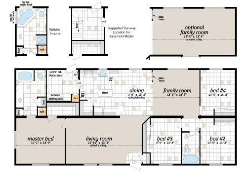 Manufactured And Modular Floor Plans   Shelter Homes