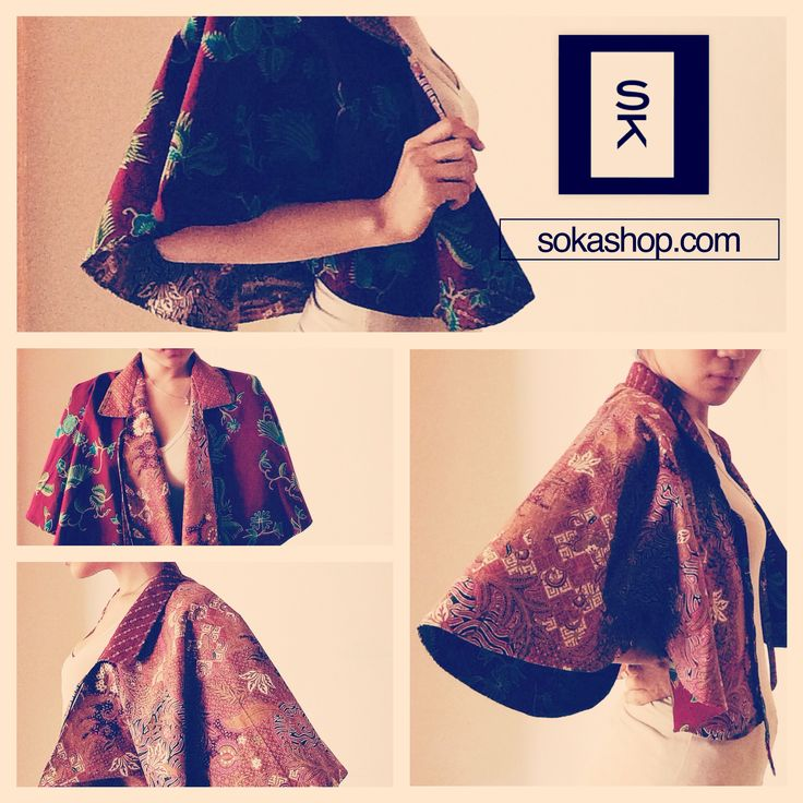 Two sides printed batik cape, the material is cotton, it can be wear as cape or skirt. Two color, red and light brown, you can change which side you want to wear.