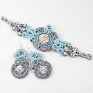 soutache earrings and bracelet - american dream