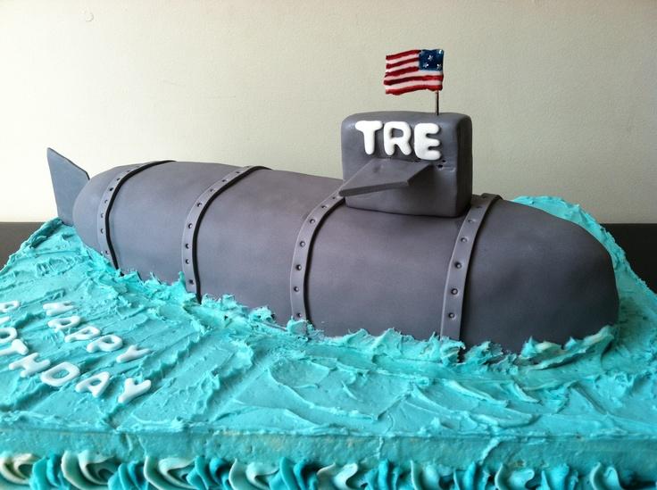 Navy Submarine Cake For B S Graduation Fun Foods