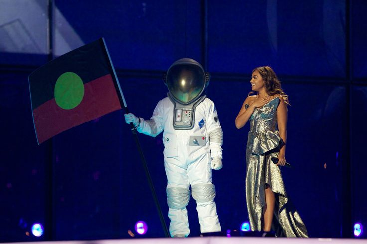 Jessica Mauboy performed during the second Eurovision semi-final in Copenhagen.