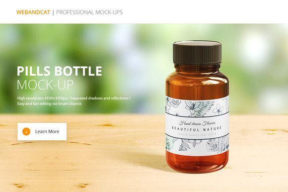Pills Bottle Mock-up by WebAndCat on @creativemarket