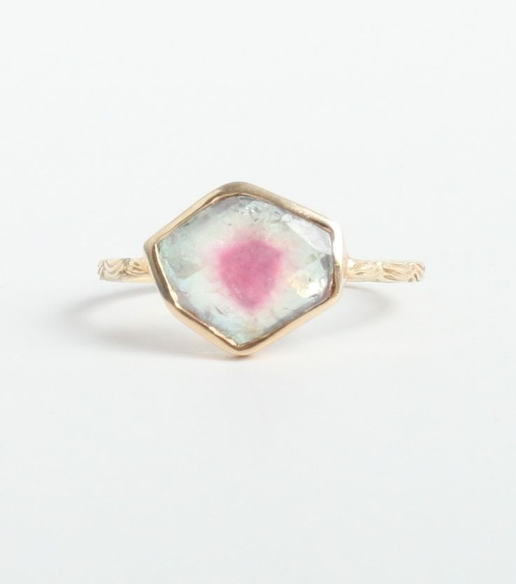 Catbird :: WHATS NEW: jewelry :: Watermelon Tourmaline Ambro Ring, available at www.catbirdnyc.com