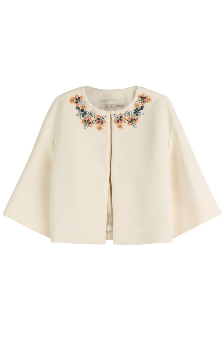 Emilio Pucci embellished cotton jacket