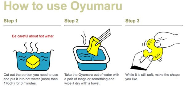 Using Oyumaru Plastic Clay is just way easy! A great mold material and its re-usable too!