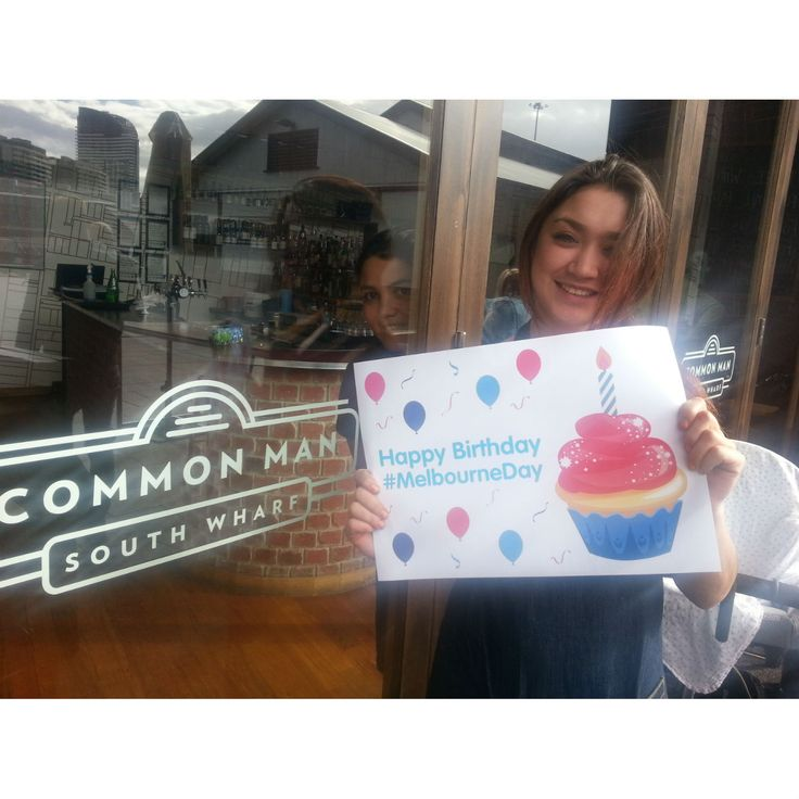 Cheers! offer: Get free coffee with any breakfast order at Common Man, South Wharf, on Melbourne Day. Plus 15% off your lunch/dinner bill. #MelbourneDay