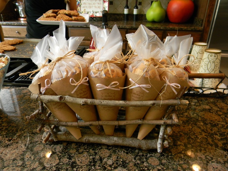 Rustic Winter Baby Shower Snacks