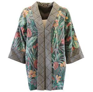 Image of Kimono jakke med hawaii print