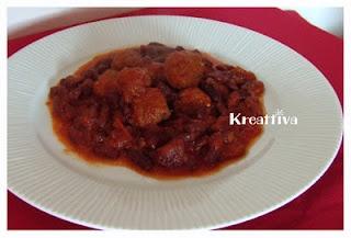 Salsiccia con fagioli kidney rossi