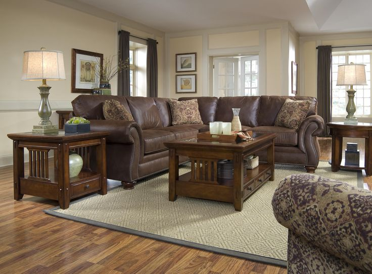 Broyhill Furniture: Laramie Collection Corner Sectional Sofa. #livingroom