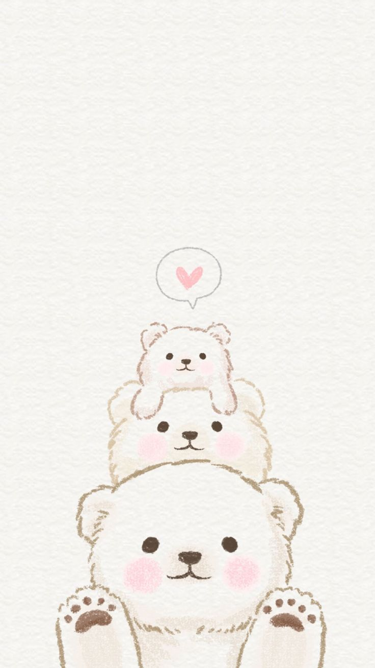 Wallpaper iphone cantik - Bear Love
