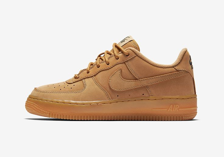 Nike Air Force 1 Low GS Flax Wheat 888853-200 | SneakerNews.com