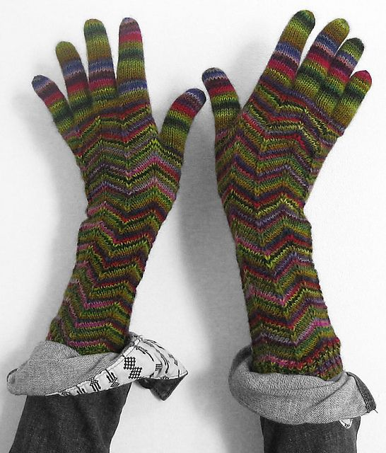 Must do! As the designer says, these gloves are perfect for showing off variegated fingering weight yarns.