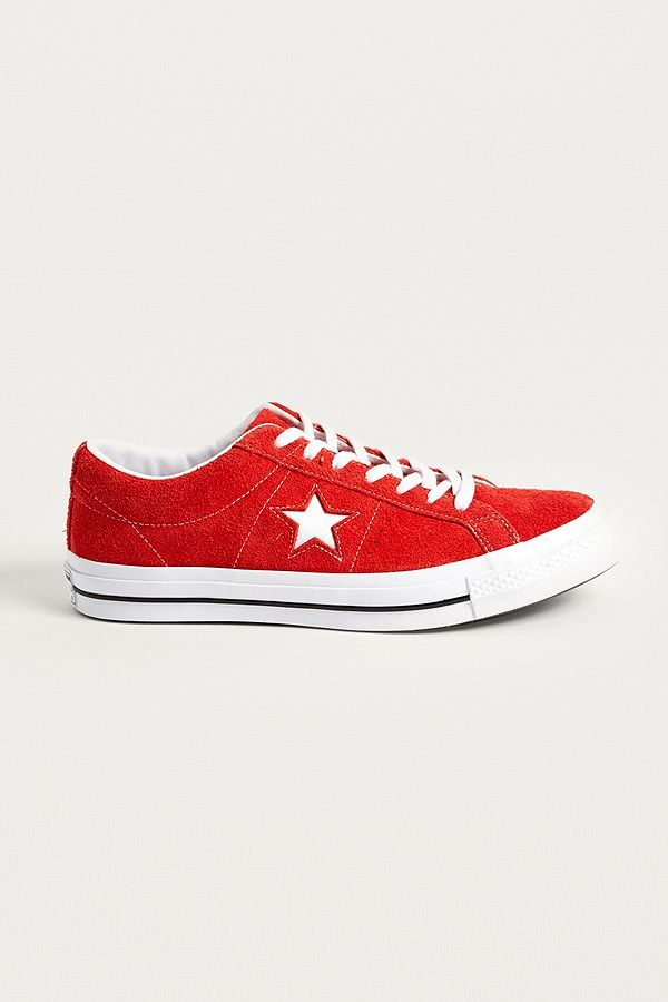 8dc94795cf3cd Slide View: 1: Converse One Star Red Suede Trainers