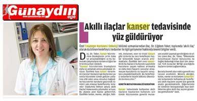 Kanser Tedavisinde Akıllı İlaç Devrimi - Basında Biz - Özel Tınaztepe Hastanesi