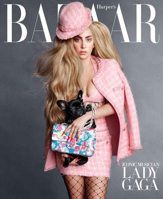US Harper's Bazaar - September 2014 cover with Lady Gaga