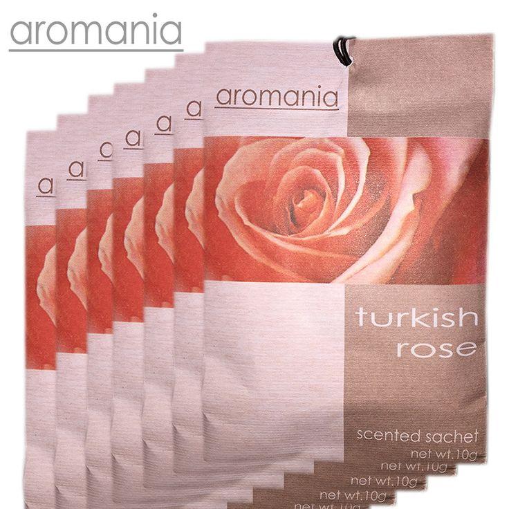 6PCS/lot Aromania Fresh Rose Scented Sachet Fragrance Drawer Sachets Bag For Bedroom Car Flavor Fragrances Indian Free Shipping