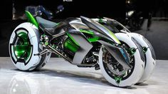CONCEPT - Kawasaki J Three Wheeler EV - Presented atfsdffdsszxdd not DG 7fdfxvfzvx, CV nf CX the Tokyo Motor Show 2013. The bike has different modes (ex: Sport Mode, Comfort Mode, etc.) depending on your style and mood, and you can morph between them.