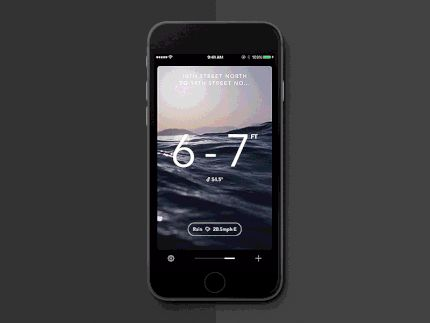 Billabong Surf App Teaser by Ben Cline—The Best iPhone Mockups for Your Next Product → store.ramotion.com