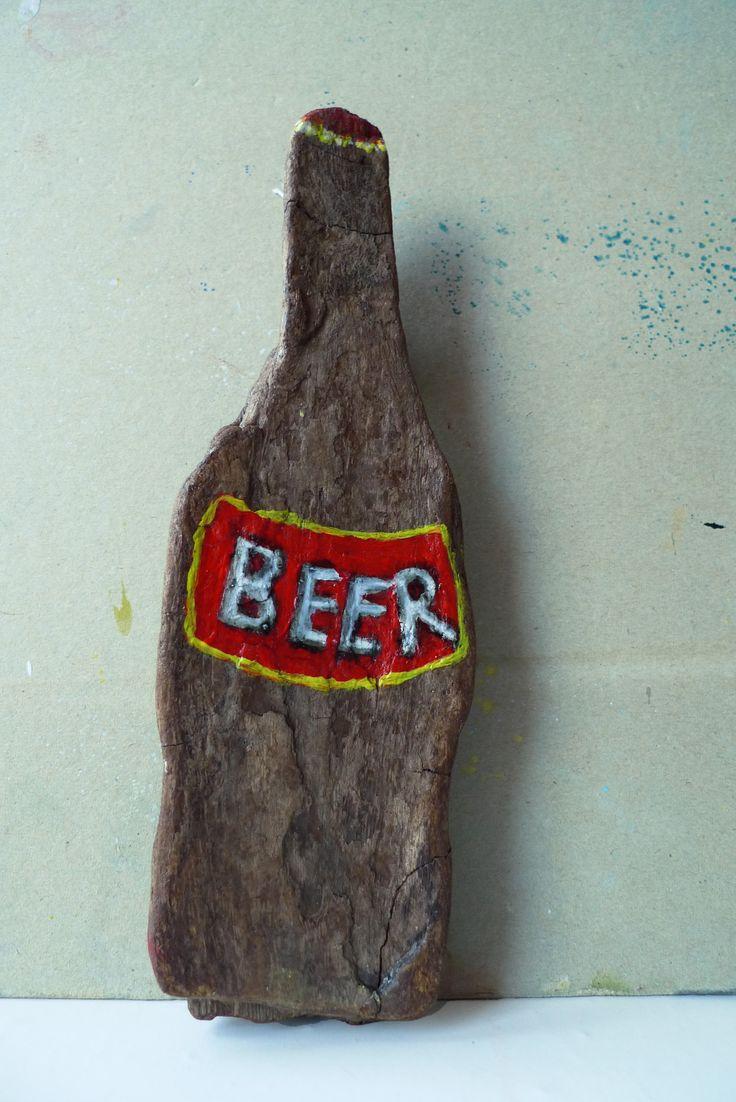 """Beer"" Acrylics on FloodWood"