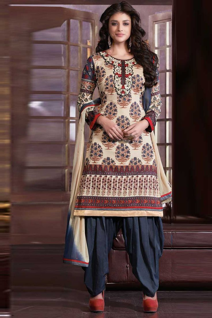 Beige Grey Cotton Salwar Suit with Beige Grey Chiffon Dupatta Price:-£39.00 Andaaz Fashion presents new arrival designer semi stitched Beige Grey Salwar Suit with Beige Grey Chiffon Dupatta with Quarter Sleeve, Knee Length, Round Neck Kameez. Embellished with Resham, Stone, Embroiderey. This is prefect for Casual http://www.andaazfashion.co.uk/beige-grey-salwar-suit-with-beige-grey-chiffon-dupatta-dmv13302.html