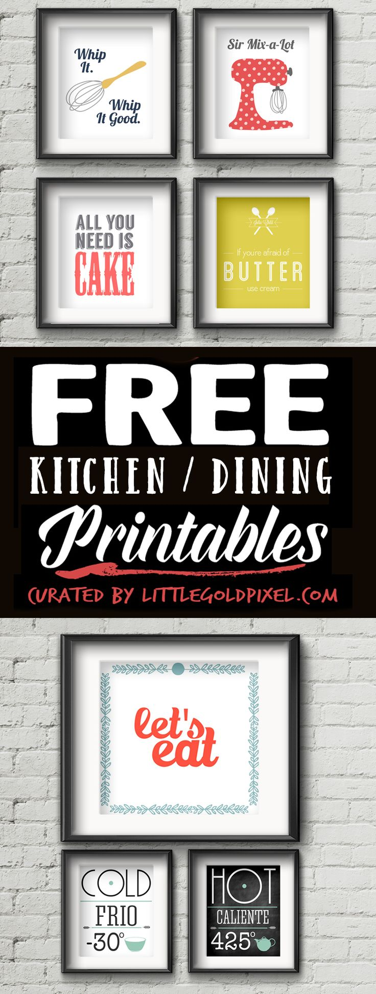 20 Kitchen Free Printables  Wall Art Roundup