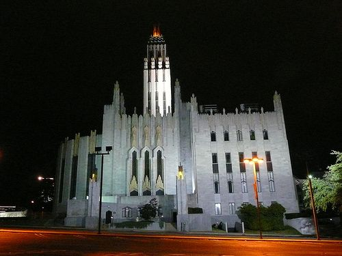 Boston Avenue Methodist Church, the only cathedral -size art deco church in the world.