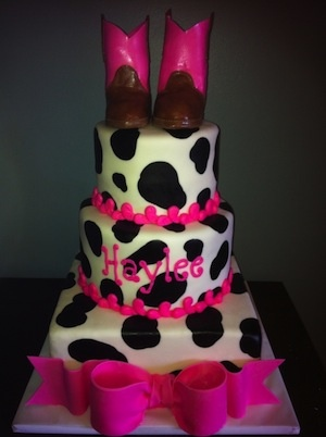 Cowgirl Baby Shower Cake aka THE cutest baby cowgirl cake EVER