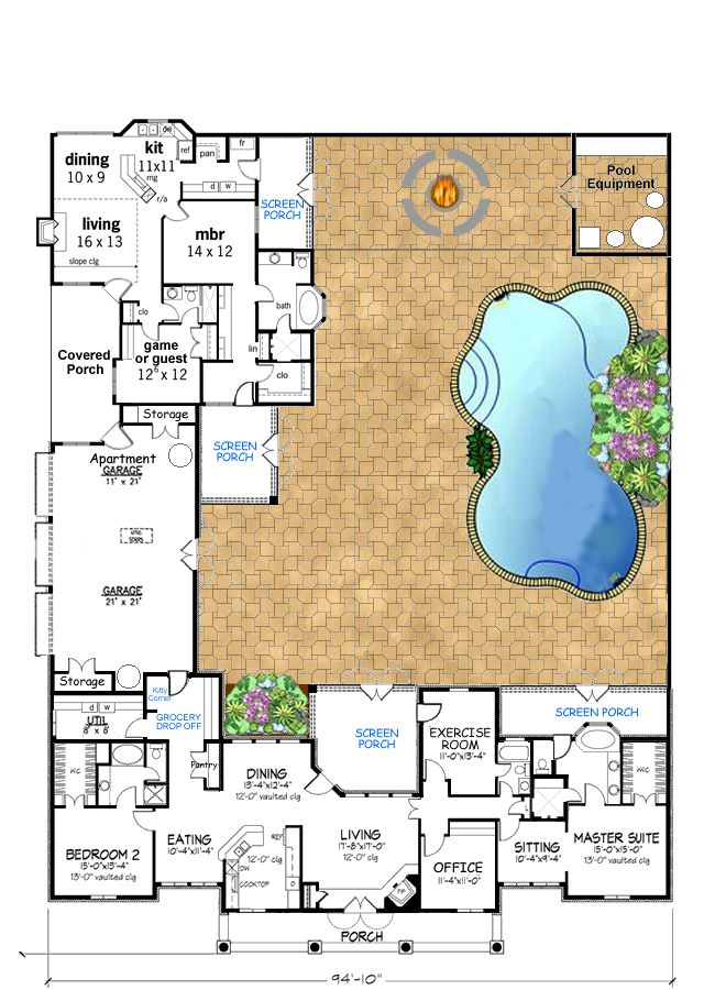house plans with breezeway and in-law suites | Breezeway Between ...