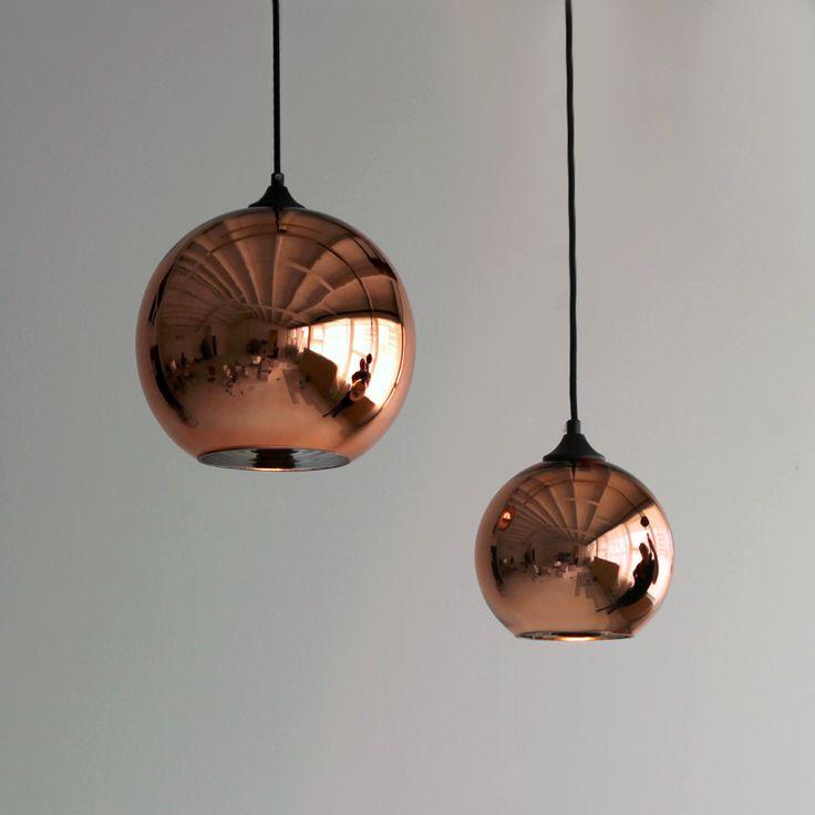 Copper Glass Globe Pendant Lights Lighting Globe