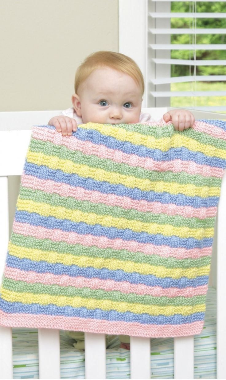 Knit Baby Blanket Pattern Quick : 17 mejores imagenes sobre Baby Knitting Patterns en ...