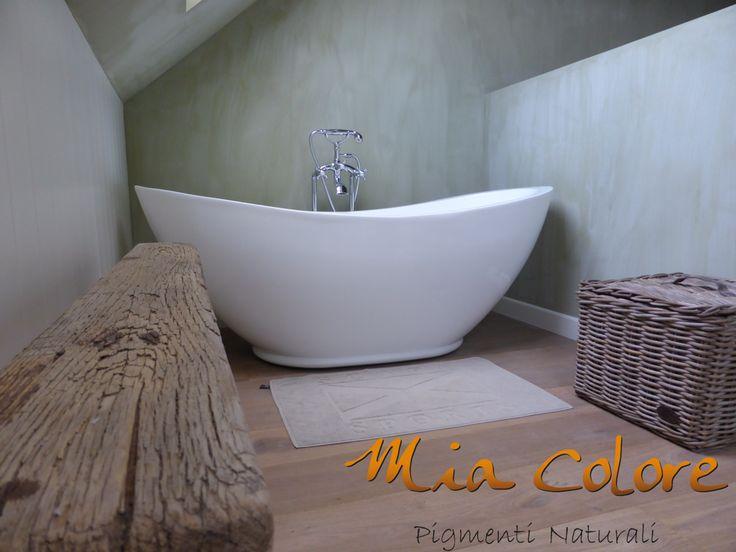 Kalkverf In Badkamer ~ Kalkverf van Mia Colore in de badkamer Prima uitstraling en