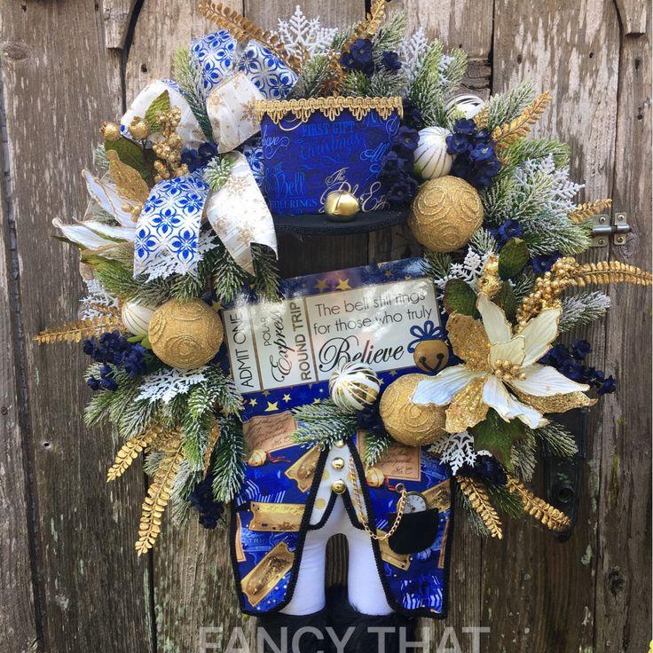 Polar express character Christmas wreath