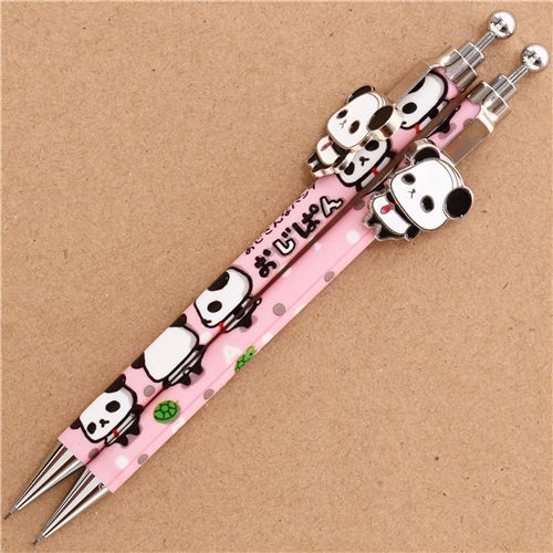 pink Ojipan panda bear dots mechanical pencil from Japan 1