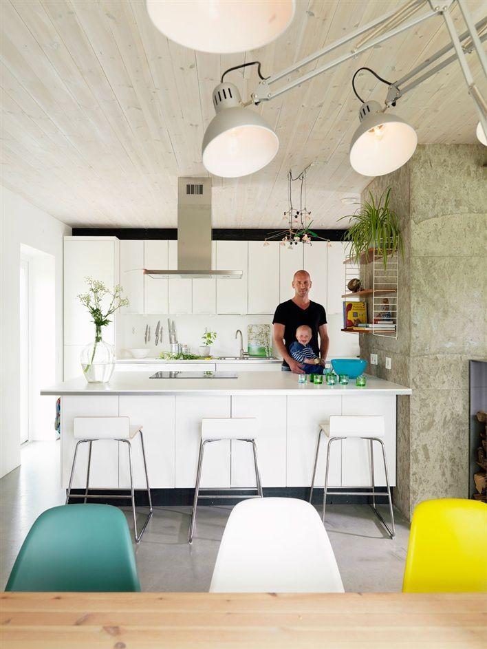 Wonderful family kitchen in Sweden.