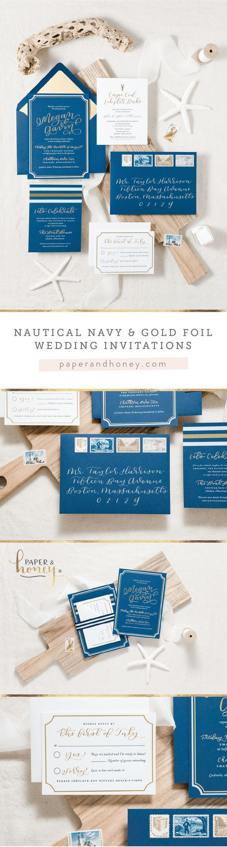 Die besten 25 Nautical wedding stationery Ideen auf Pinterest