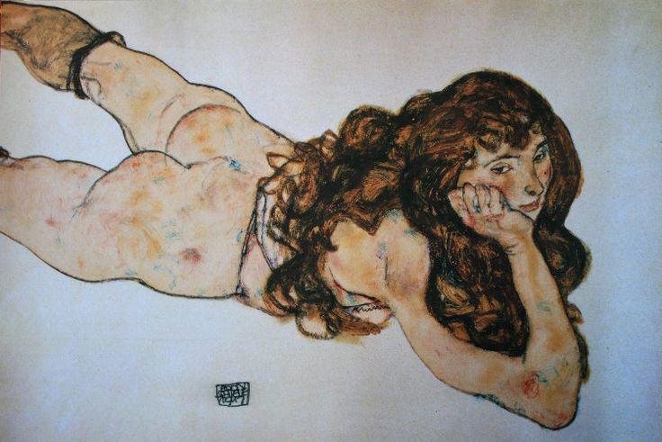 Egon Schiele : Nudo di Ragazza, 1917